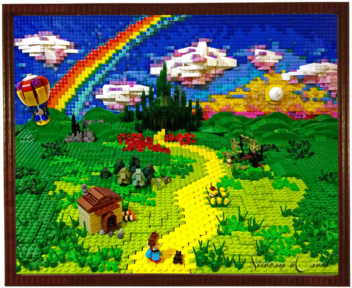 Siercon and Coral, Lego Wizard Of Oz, Follow the Lego Brick Road