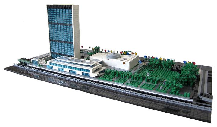 Spencer_R's United Nations Headquarters Lego MOC Back