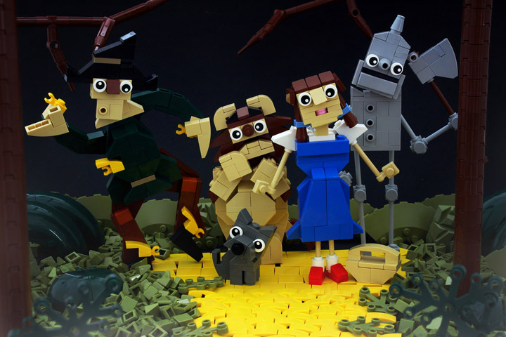 Tyler's Wizard Of Oz Lego, Follow the Yellow Slope Road