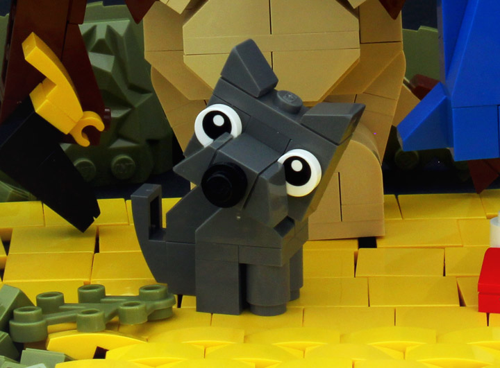 Tyler's Wizard Of Oz Lego, Follow the Yellow Slope Road, Toto