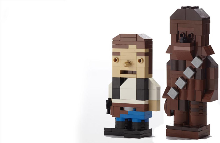 derjoe's Lego Star Wars Figures, Han Solo and Chewie