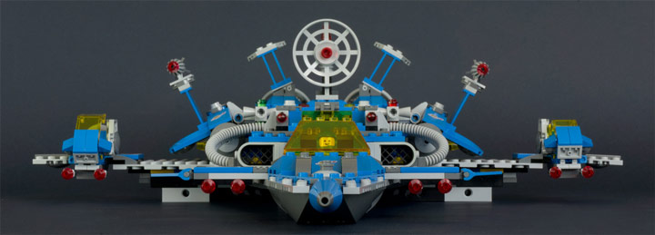 New Elementary's Lego Benny Spaceship Front View 70816 Review