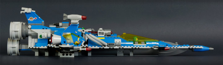 New Elementary's Lego Benny Spaceship Side View 70816 Review
