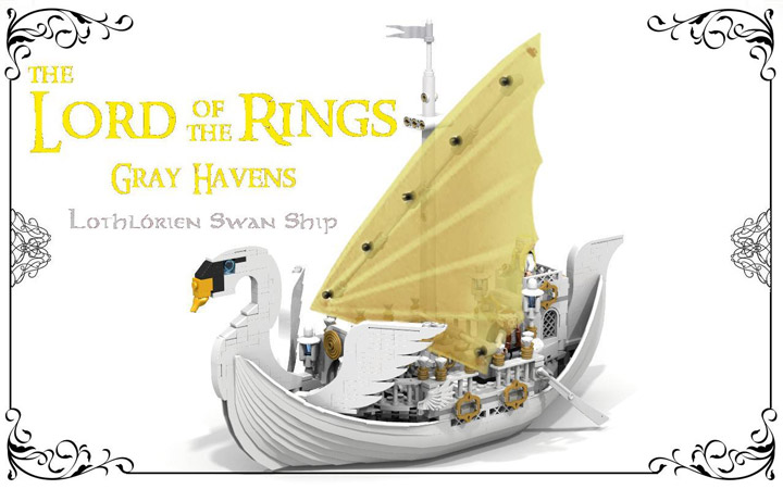 reekardoo's Lego LOTR, Lothlorien Swan Ship