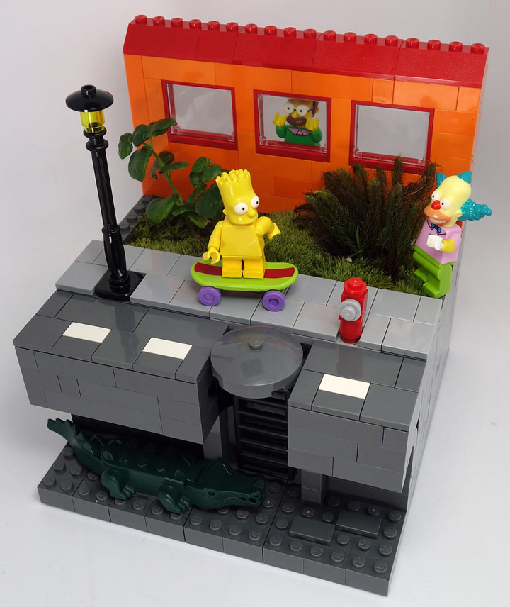 Jin Kai Soo's The Simpsons Lego Flower Pot