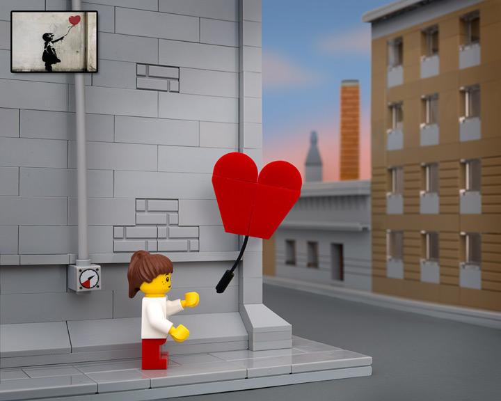 TheBrickFantastic Lego Banksy, Balloon Girl