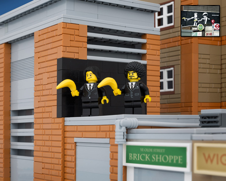 TheBrickFantastic Lego Banksy, Pulp Fiction Bananas