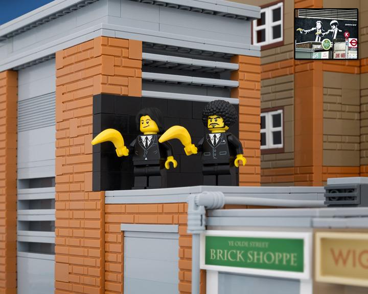 TheBrickFantastic Lego Banksy, Pulp Fiction Bananas