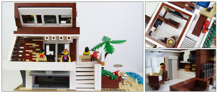 zaberca's Lego Beach House 2 Interior