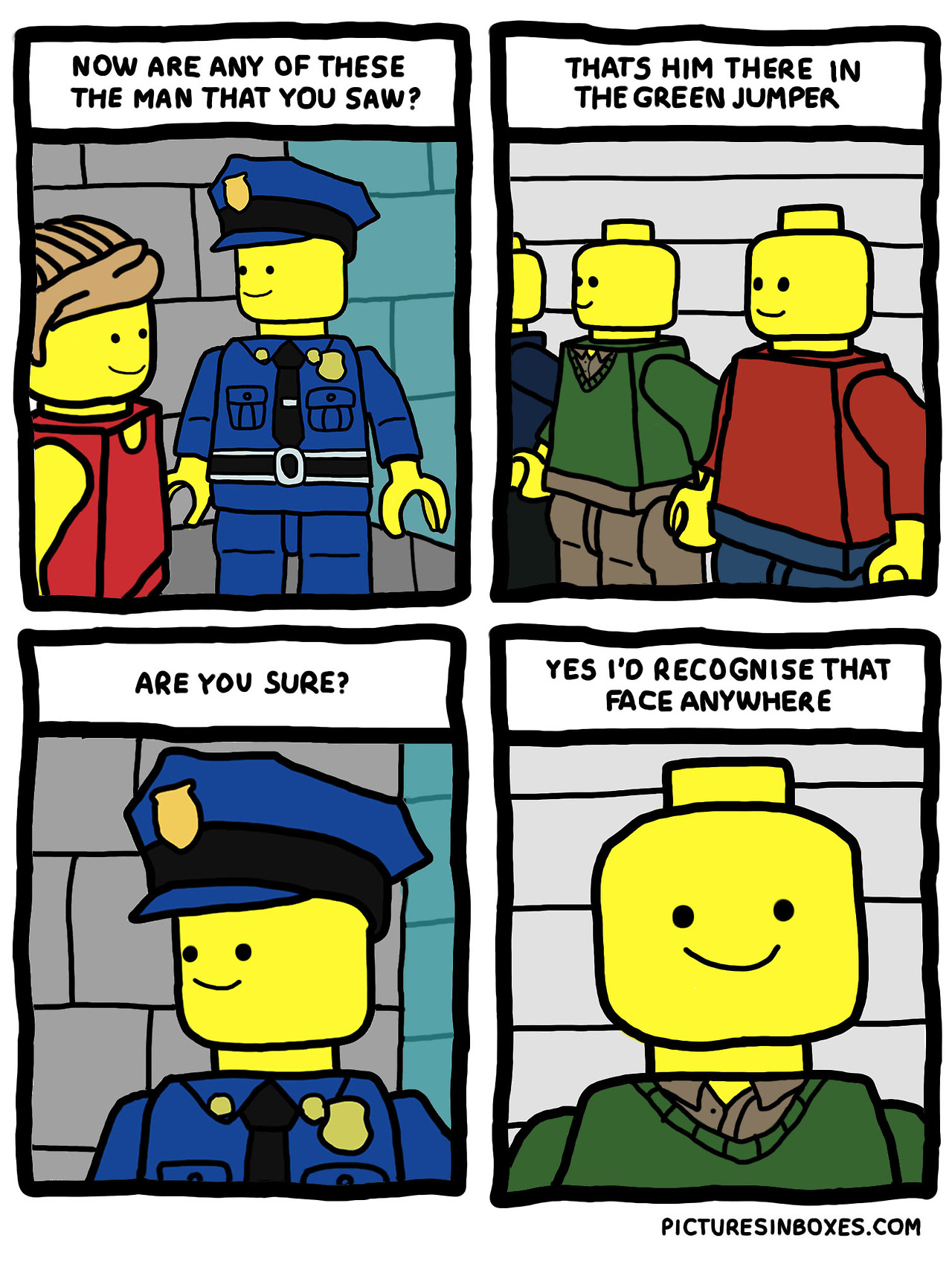 Pictures In Boxes Lego Comic Smile