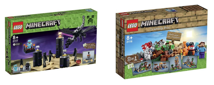Lego Minecraft 2015 The Ender Dragon and The Crafting Box