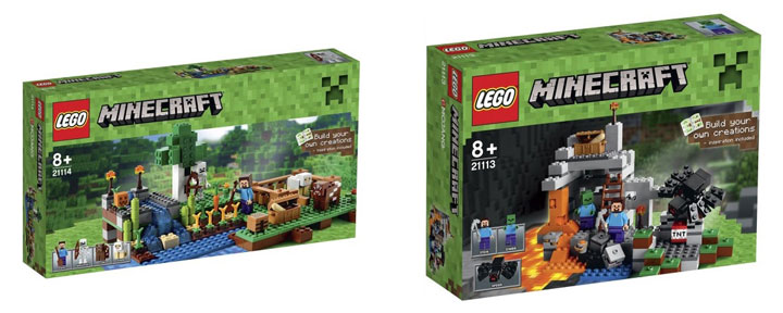 New Lego Minecraft 2015 The Farm and The Cave