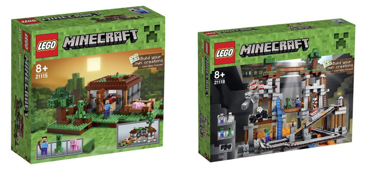 New Lego Minecraft 2015 The First Night and The Mine