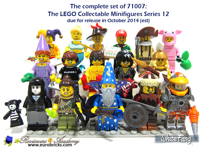 Whitefang Lego Minifigures Series 12 Complete Set