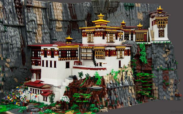 Anu Pehrson's Lego Tiger's Nest Monastery, Paro Taktsang