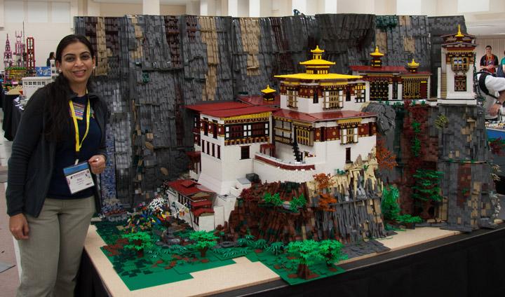Anu Pehrson's Lego Tiger's Nest Monastery, Paro Taktsang. Creator.