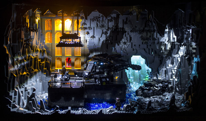 Brent Waller Lego Batman Dark Knight Rises Batcave