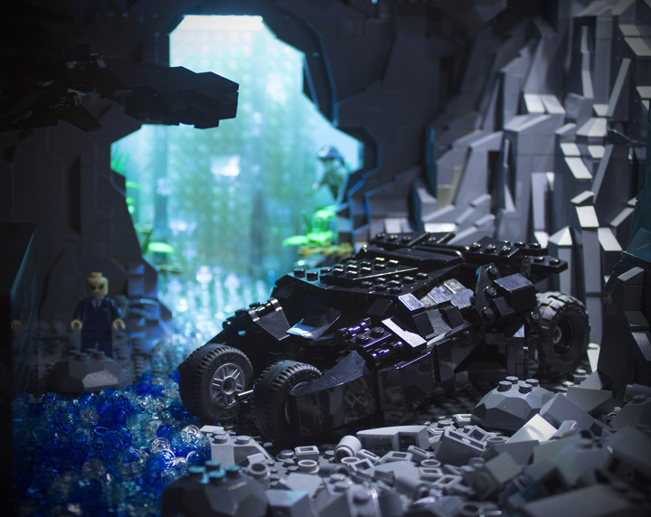 Brent Waller Lego Batman Dark Knight Rises Batcave Tumbler