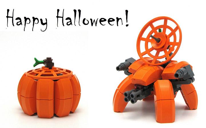 Chris Maddison's Lego Pumpkinbot