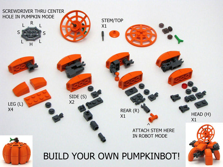Chris Maddison's Lego Pumpkinbot Instructions
