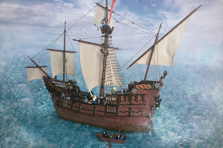 Janjy Giggins's Lego Galleon MOC, The Sea Hawk