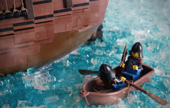 Janjy Giggins's Lego Galleon MOC, The Sea Hawk Row Boat