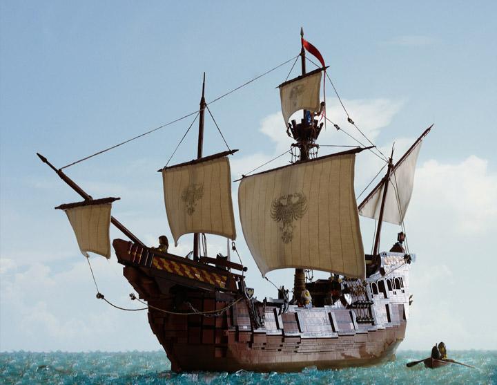 Janjy Giggins's Lego Galleon, The Sea Hawk Ship