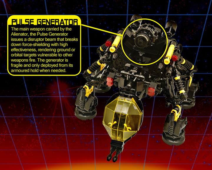 Jeremy Williams's Lego Blacktron Alienator Details