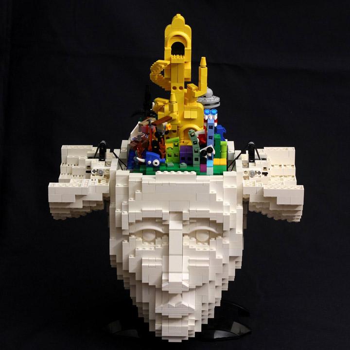 Kristal's Lego Artist Sculpture, The Artist