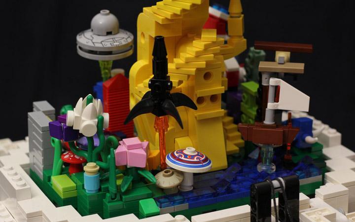 Kristal's Lego Artist Sculpture, The Artist, The Mind