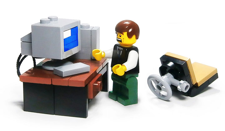 LegoJalex Lego Computer Blue Screen