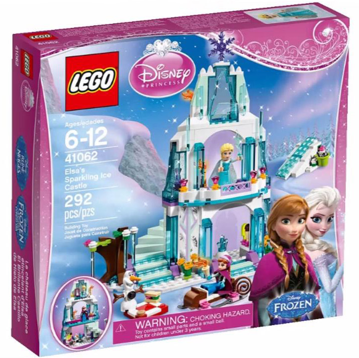 New Lego Disney Princess, Frozen, Elsa's Sparkling Ice Palace 41062