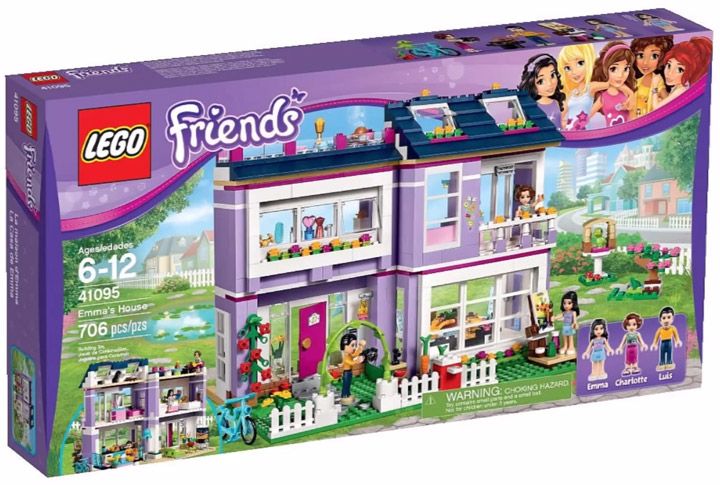 Lego Friends 2015. Emma's House 41095