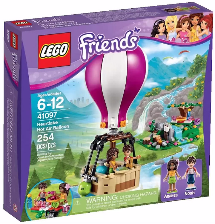 Lego Friends 2015. Heartlake Hot Air Balloon 41097