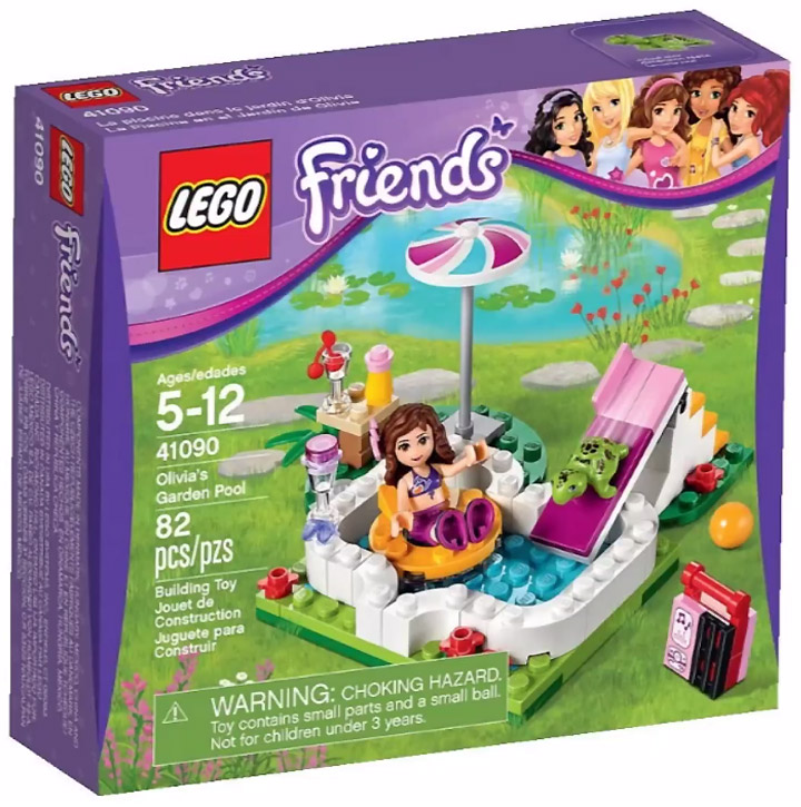 Lego Friends 2015. Olivia's Garden Pool 41090