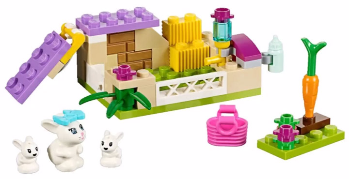 Lego Friends Rabbit Mother With Babies 41087
