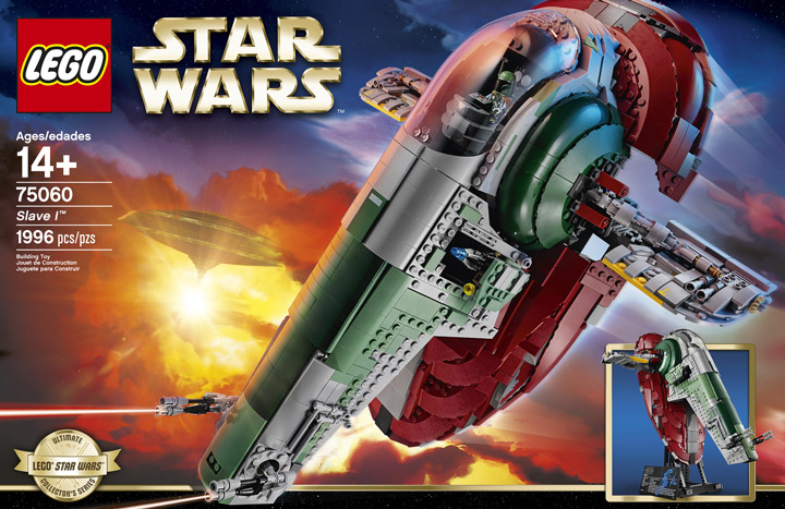 Lego Star Wars Slave I, 75060 Box