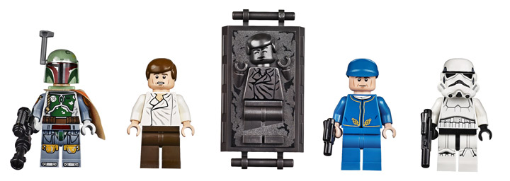 The Slave I A Massive New Lego Star Wars Ship Revealed - 25 2 lego star wars minifigures han solo han in carbonite blaster
