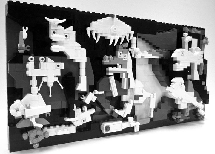 Veronica Watson's Lego Picasso's Guernica