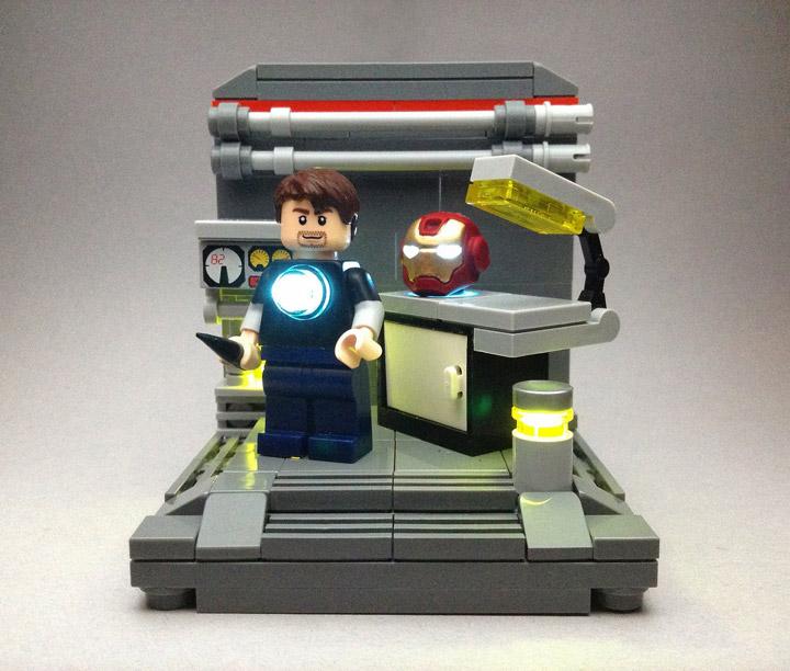 Vlad Hernandez's Lego Iron Man, StarkLab Helmet Repair
