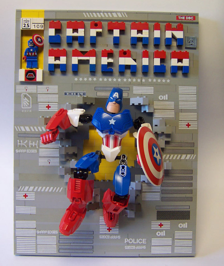 monsterbrick's Lego Comics, Captain America by Jack Kirby. Comic Bricks 109