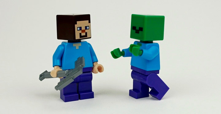 newelementary's Lego Minecraft 21113 TheCave, Minifigures