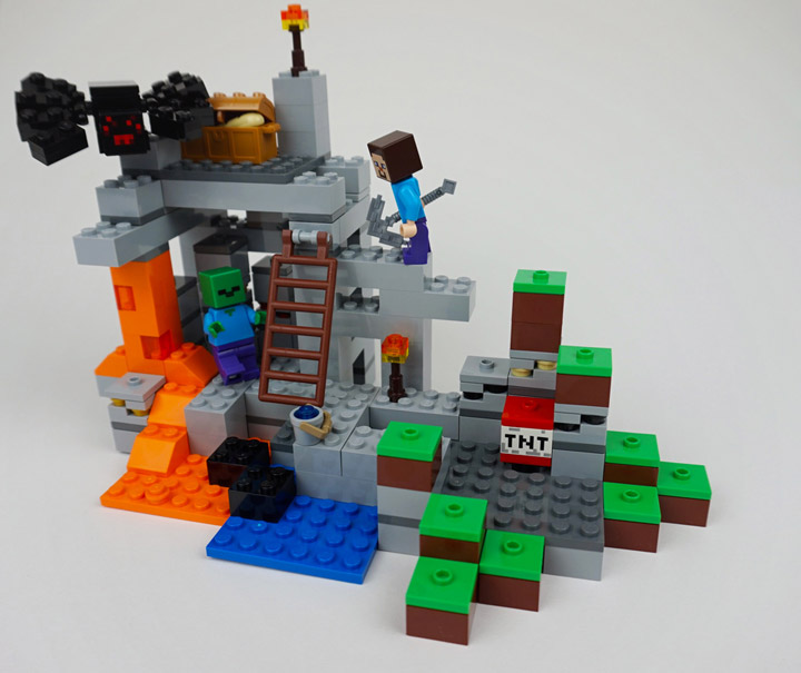newelementary's Lego Minecraft 21113 TheCave Review