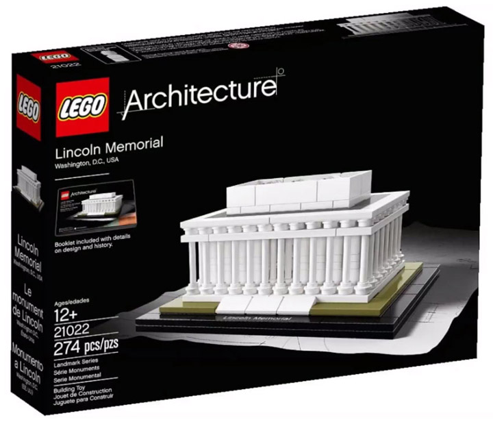 2015 Lego Architecture, Lincoln Memorial (21022) Box