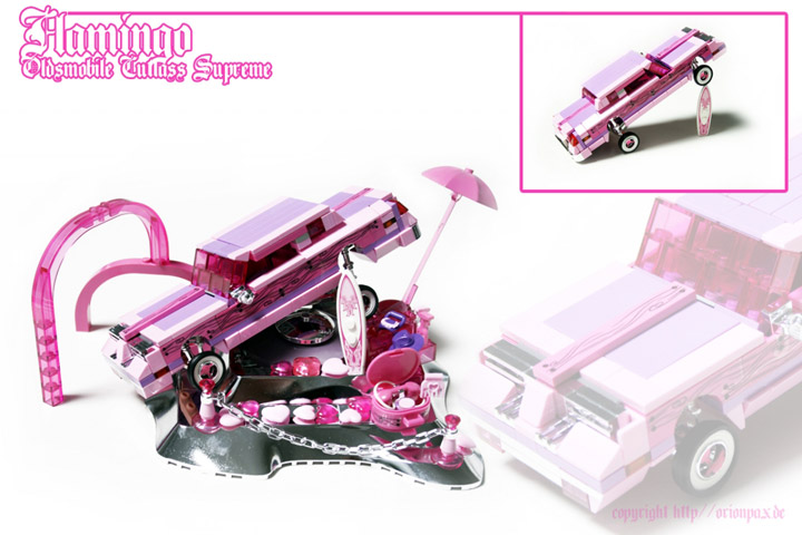 Alex Jones's Lego Flamingo Oldsmobile Cutlass Supreme