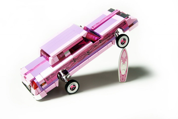 Alex Jones's Lego Lowrider, Flamingo Oldsmobile Cutlass Supreme 02