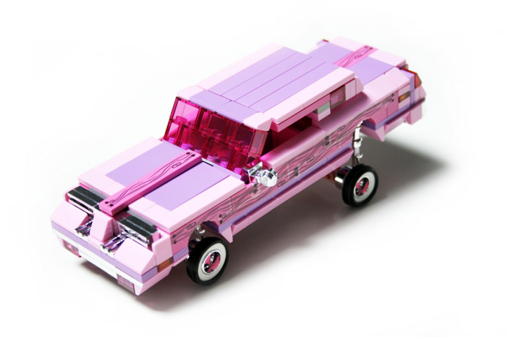 Alex Jones's Lego Lowrider, Flamingo Oldsmobile Cutlass Supreme 01