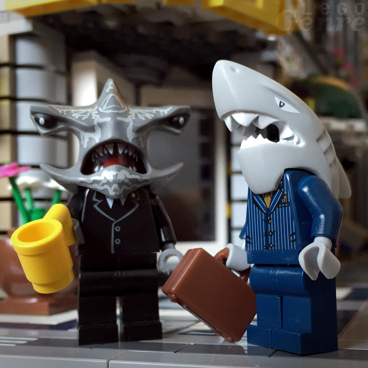 LegoGenre: Sharks are winners, and they don't look back because they have no necks. Necks are for sheep.