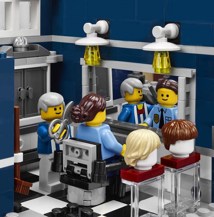 Lego Creator Detectives Office Modular Building Barber Shop