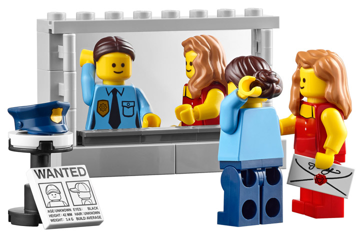 Lego Creator Detectives Office Modular Building Mirror